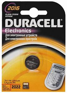 Батарея Duracell DL2016 CR2016 (1шт)